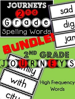 2nd Grade Journeys BUNDLE! Spelling & High Frequency Words