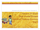 2nd Grade Journeys Daily Writing Prompts- Unit 3
