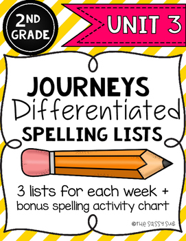 2nd Grade Journeys: Differentiated Spelling Lists for Unit 3