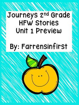 2nd Grade Journeys- HFW Stories Unit 1 Preview