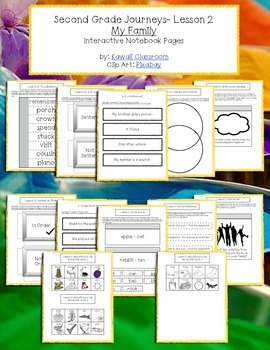 2nd Grade Journeys Lesson 2 Interactive Notebook Pages