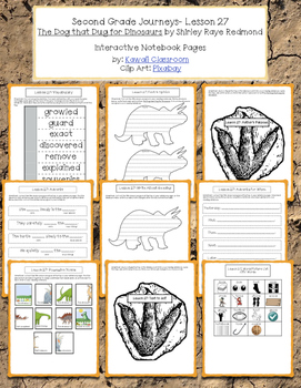 2nd Grade Journeys Lesson 27 Interactive Notebook Pages