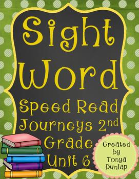 2nd Grade Journeys Sight Word Speed Read, Unit 6