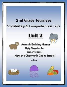 2nd Grade Journeys Vocabulary & Comprehension Tests: Unit