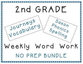 2nd Grade Journeys 2012 Vocabulary Saxon Spelling Centers