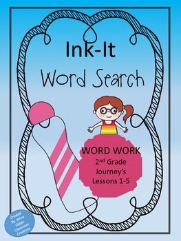 2nd Grade Journeys Word Search Lessons 1-5