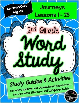 2nd Grade Journeys Word Study- Study Guides, Posters, and