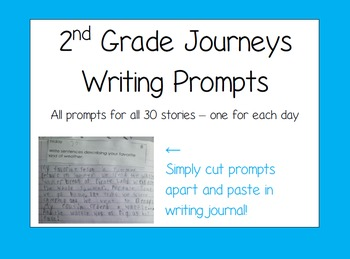 2nd Grade Journeys Writing Prompts