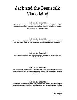 2nd Grade Junior Great Books- Jack & the Beanstalk Visuali