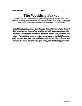 2nd Grade Junior Great Books- THE WEDDING BASKET Visualizing
