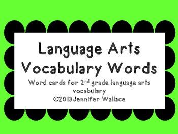 2nd Grade Language Arts Vocabulary