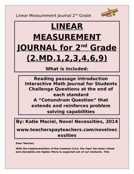 2nd Grade Linear Measurement Interactive Student Journal