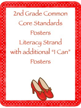 """2nd Grade Literacy CCSS Posters with """"I Can"""" Statements:"""