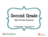 "2nd Grade MAFS Math Florida Standards Checklist with ""I Ca"