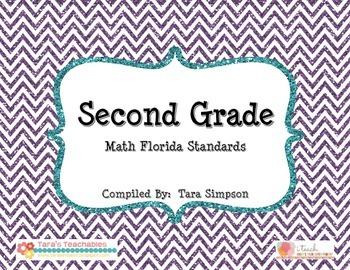 "2nd Grade MAFS Math Florida Standards Checklist with ""I Ca"
