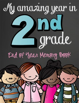 2nd Grade - MEMORY BOOK End of the Year with the BRAINY BU