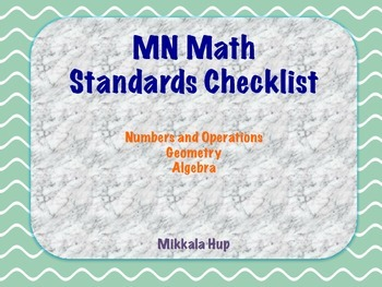2nd Grade MN Math Standards Checklist