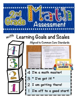 2nd Grade Math Assessment with Marzano Scales Aligned to C