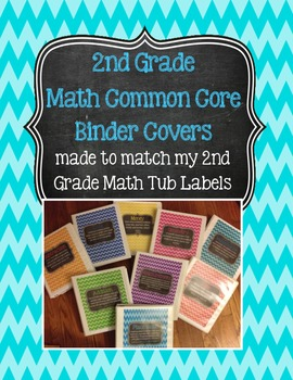 2nd Grade Math Binder Covers (with Common Core) - Chevron
