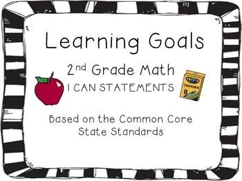 "2nd Grade Math CCSS ""I can..."" Cards"
