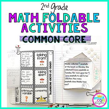 2nd Grade Math Common Core Flip Flap Foldables