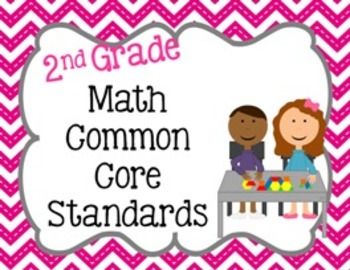 2nd Grade Math Common Core Standard Posters
