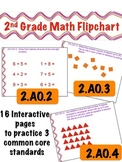2nd Grade Math Flipchart - Common Core 2.AO.2 , 2.OA.3, & 2.OA.4