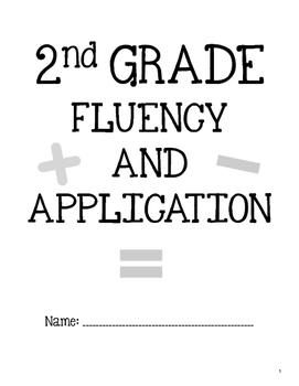 2nd Grade Math Fluency and Application Workbook Sample