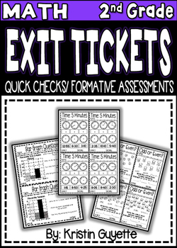 2nd Grade Math Formative Assessments/Exit Tickets