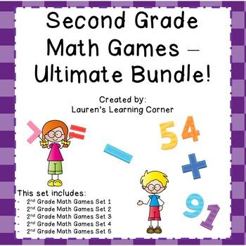 2nd Grade Math Games - Ultimate Bundle - Common Core Aligned