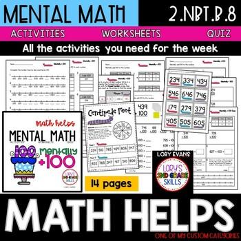 Mentally + 100  2.NBT.B.8   2nd Grade Math Helps