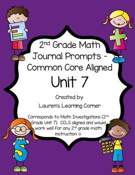 2nd Grade Math Journal Prompts - Unit 7 Investigations