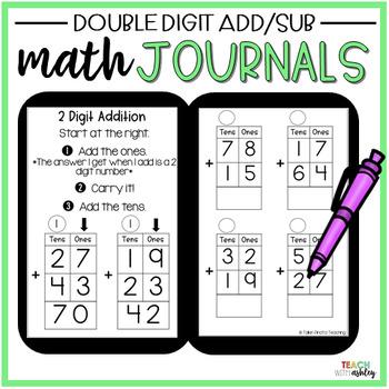 2nd Grade Math Journals {2 Digit Addition & Subtraction}