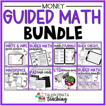 Guided Math Bundle {2nd Grade Money}