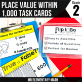 2nd Grade Math Place Value - Flip and Go Cards