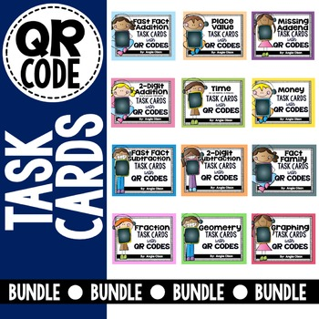 QR Code Math Task Card Bundle
