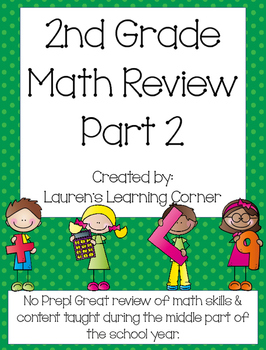2nd Grade Math Review - Part 2 - Common Core Aligned