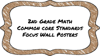 2nd Grade Math Standards on Brown Colored Frame