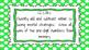 2nd Grade Math Standards on Green Polka Dotted Frame