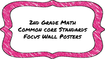 2nd Grade Math Standards on Pink Colored Frame