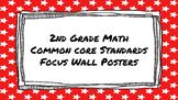 2nd Grade Math Standards on Red Star Frame