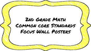 2nd Grade Math Standards on Yellow Colored Frame