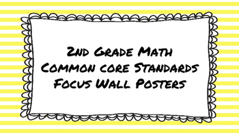2nd Grade Math Standards on Yellow Striped Frame
