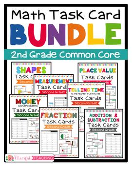 2nd Grade Math Task Card BUNDLE!