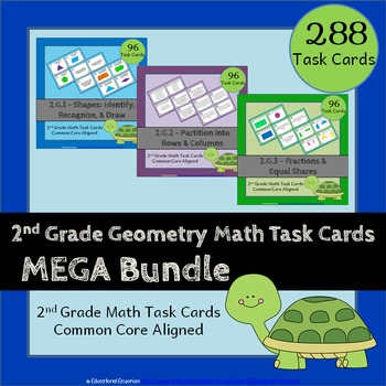 2nd Grade Geometry Task Cards: 2.G Geometry Task Cards 2nd