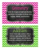 2nd Grade Math Tub Labels (with Common Core Standards) - C