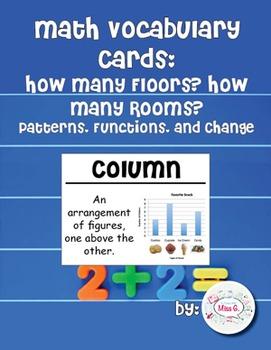 2nd Grade Math Vocabulary Cards: How Many Floors? How Many