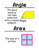 2nd Grade Math Vocabulary Cards: Shapes, Blocks, and Symme