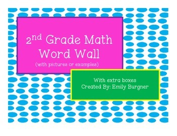 2nd Grade Math Word Wall Words