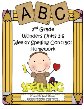 Wonders McGraw-Hill Differentiated 2nd Spelling Homework U